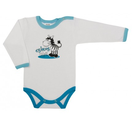 Body cu maneca lunga, Zebra /Basic