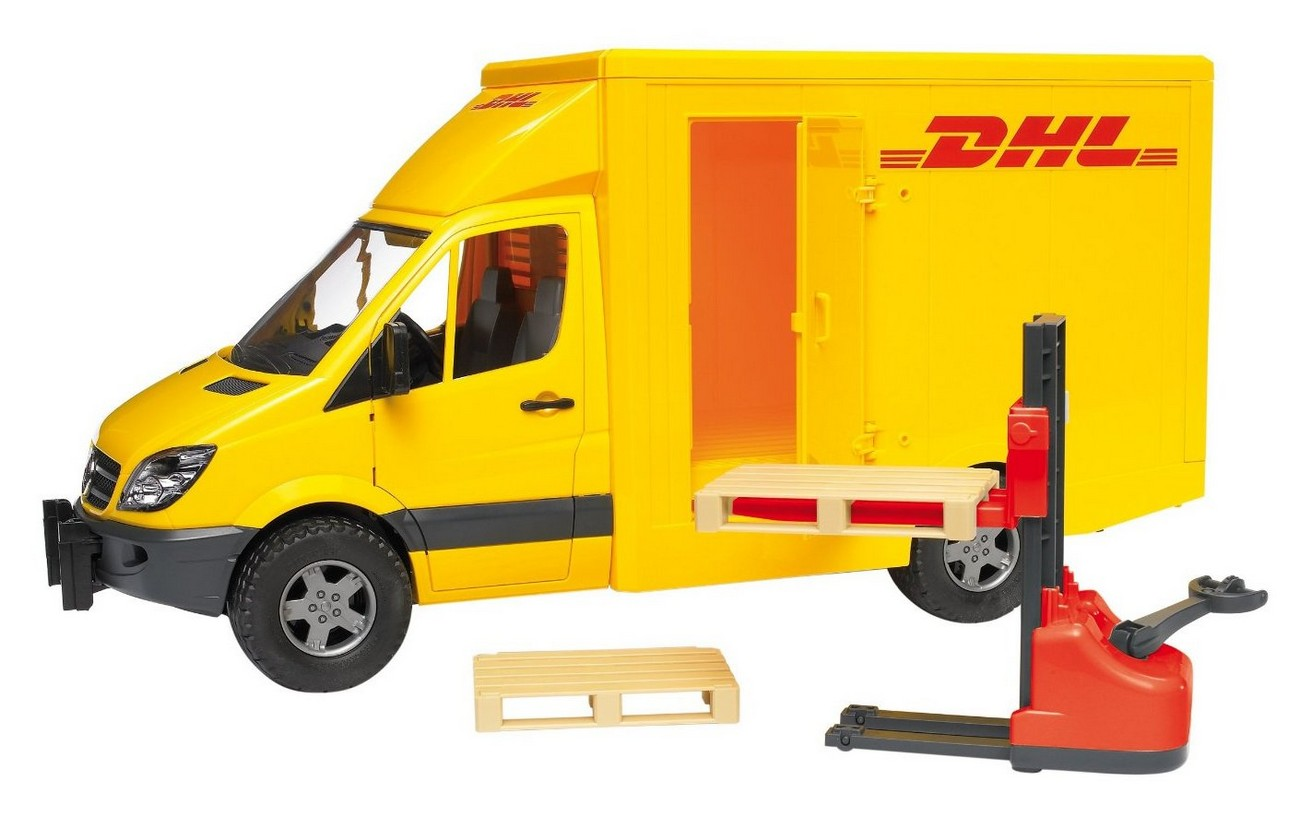 Masina Bruder, Mercedes Benz Sprinter DHL cu ridicator manual