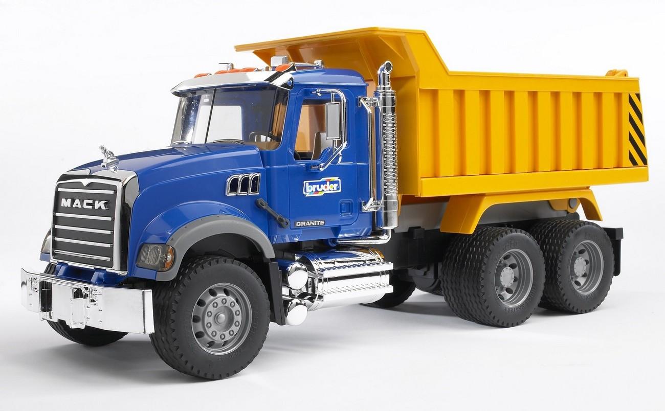 Camion Mack Granite cu bena basculanta, Bruder