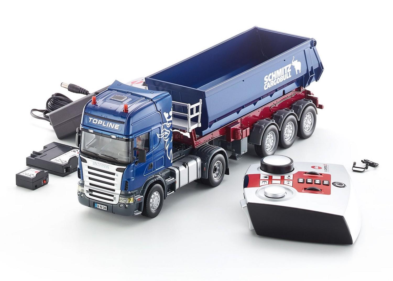Camion cu telecomanda Scania, cu remorca basculabila, Siku Control 32