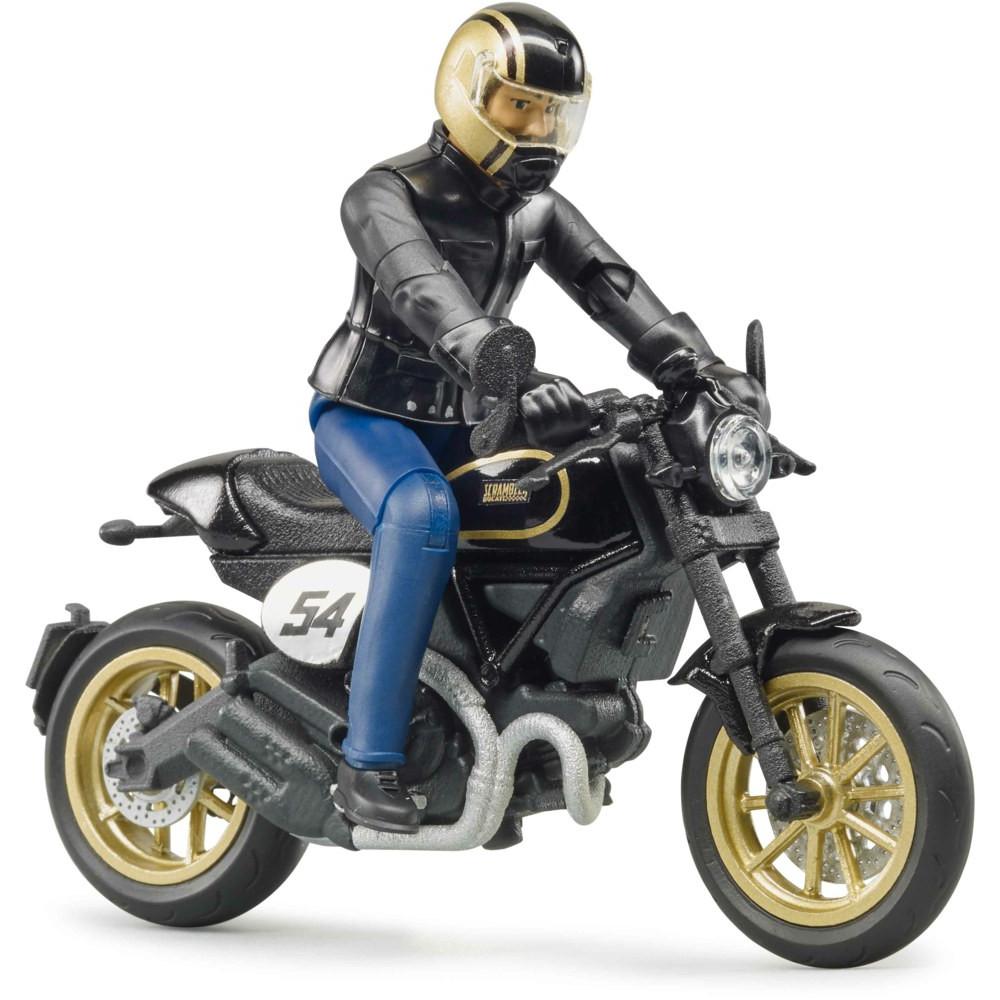 Motocicleta Ducati racer cu figurina motociclist, Bruder 63050 - Scamp