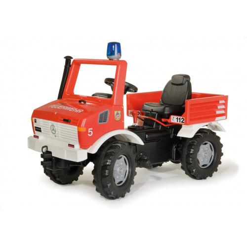 036639 - Masina de pompieri Rolly Toys Unimog cu cutie de viteza, frana si lumina