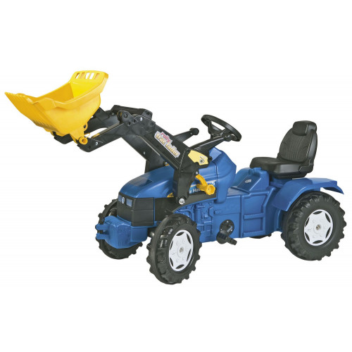 046713 - Tractor cu pedale Rolly Toys, New Holland TD 5050 cu incarcator frontal