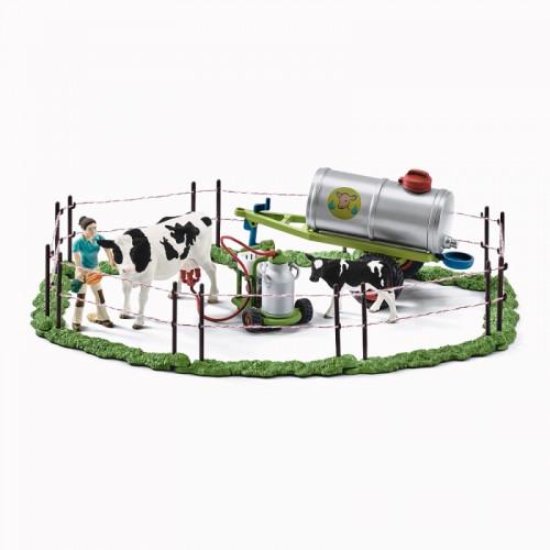 Figurina Schleich 41428, Farm life, Familie de vaci la pasune