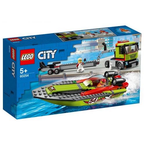 LEGO City, Transportor de barca de curse 60254