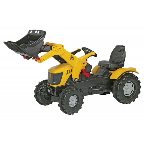 611003 - Tractor cu pedale Rolly Toys, JCB 8250 V-Tronic, cu incarcator frontal