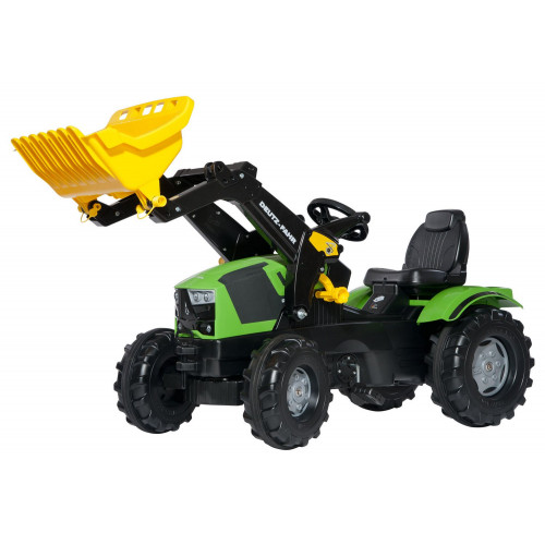 611201 - Tractor cu pedale Rolly Toys, Deutz-Fahr 5120 cu incarcator frontal