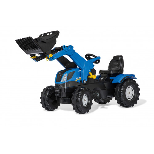 Tractor cu pedale Rolly Toys, New Holland cu incarcator frontal