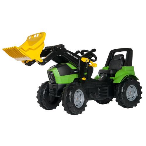 710034 - Tractor cu pedale Rolly Toys, Deutz Agrotron 7250 TTV cu incarcator frontal