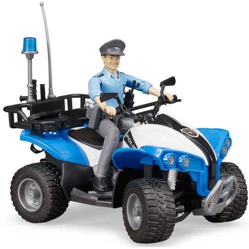 ATV de politie cu figurina politist, Bruder 63010