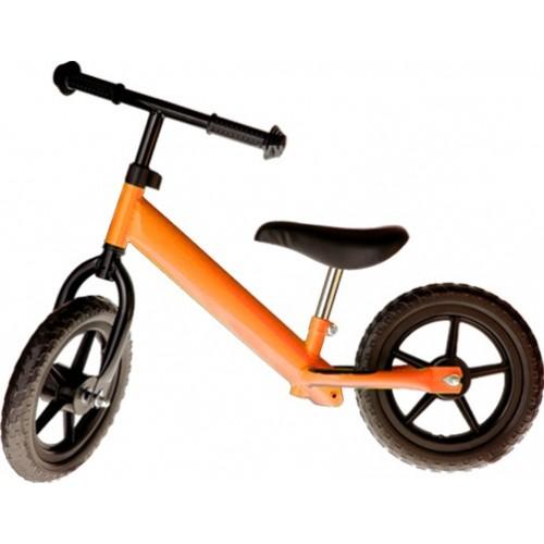 Bicicleta fara pedale portocaliu copii
