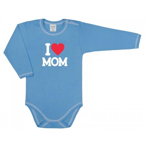 Body bebelusi, I love mom, albastru