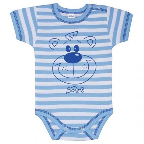Body bebelusi, cu maneca scurta, cu motiv ursuleti, PO7