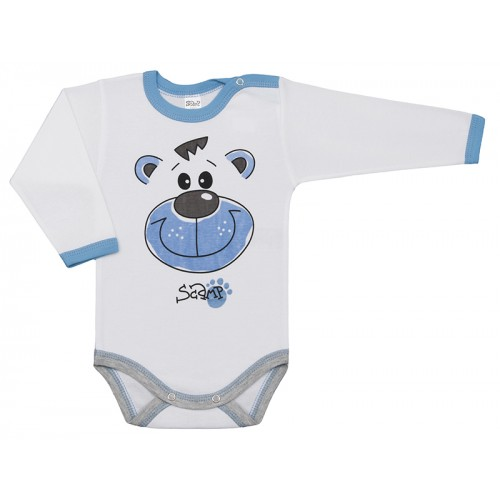 Body bebelusi, cu maneca lunga, cu motiv ursuleti, Basic