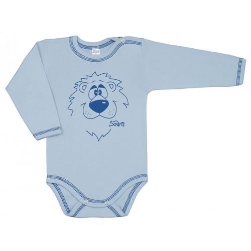 Body bebelusi, cu maneca lunga, cu motiv leu, Basic