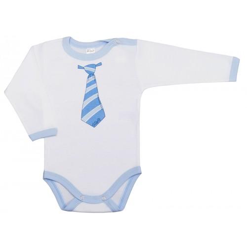 Body bebelusi, cu maneca lunga, cu motiv cravata, Basic