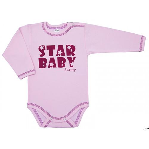 Body cu maneca lunga, cu motiv Star Baby, Basic