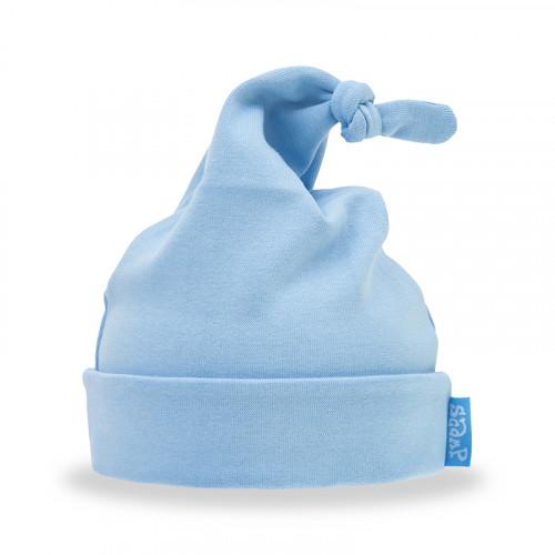Caciulita bebelusi, din bumbac, albastru