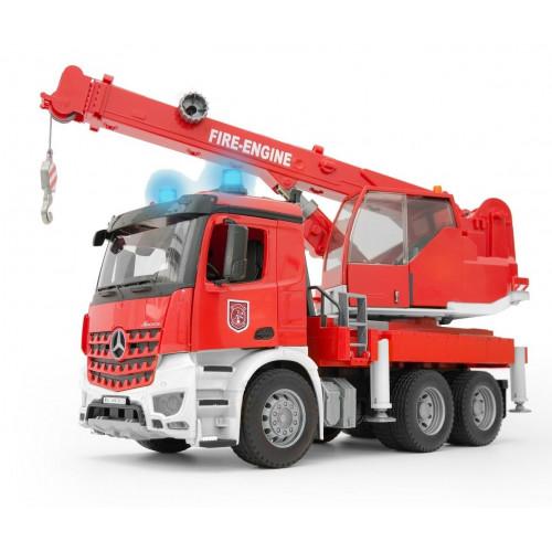 Camion de pompieri Mercedes Benz Arocs cu macara, Bruder 03675