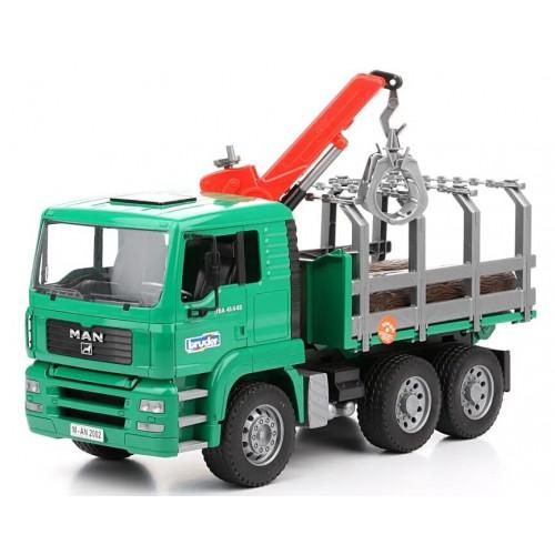 Camion forestier MAN cu macara de incarcare, Bruder 02769