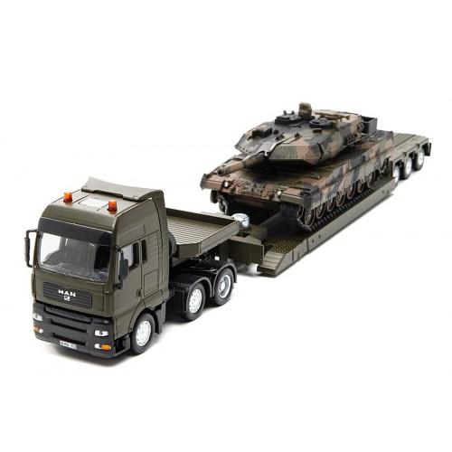 Camion MAN cu trailer si tanc metalic, Siku 8612, Scara 150