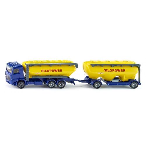 Camion Mercedes Benz Arocs, Silo Truck, Siku 1809, scara 1:87