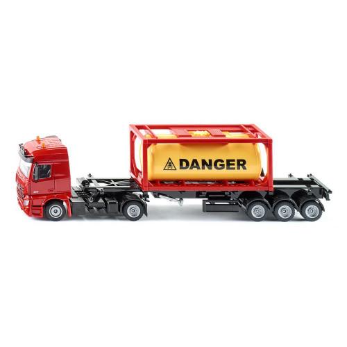 Camion Tank-Container Mercedes Arocs, Siku 3922, scara 1:50