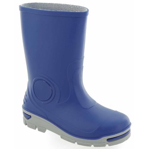 Cizme de cauciuc pentru copii, impermeabile pentru ploaie, albastru inchis