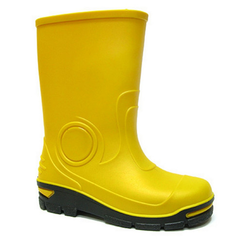 Cizme de cauciuc pentru copii, impermeabile pentru ploaie, galben