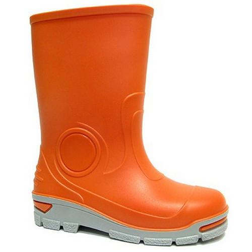Cizme de cauciuc pentru copii, impermeabile pentru ploaie, portocaliu