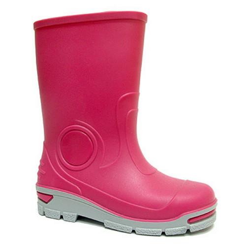 Cizme de cauciuc pentru copii, impermeabile pentru ploaie, roz fuchsia