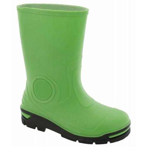 Cizme de cauciuc pentru copii, impermeabile pentru ploaie, verde