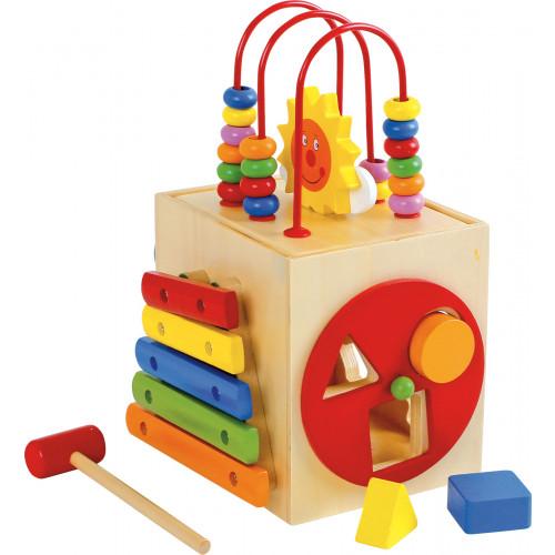 Cub din lemn cu activitati, Soare 8189