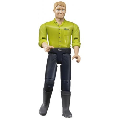 Figurina barbat cu camasa verde, Bruder 60005 bworld