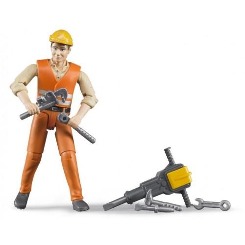 Figurina constructor cu picamer, Bruder 60020 bworld
