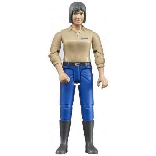 Figurina femeie cu bluza bej Bruder bworld 60406