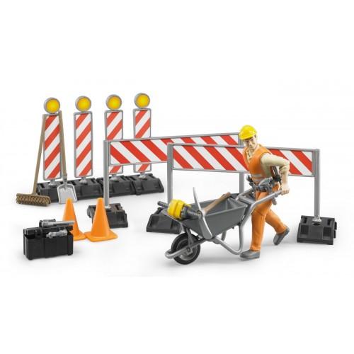 Figurina muncitor drumar cu accesorii Bruder 62000