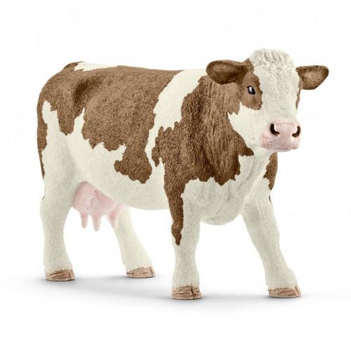 Figurina Schleich 13801, Vaca Simmental
