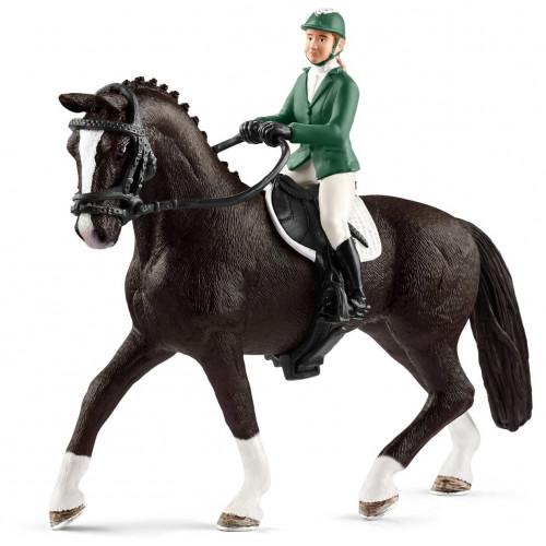 Figurina Schleich 42358, Horses, Jocheu cu cal
