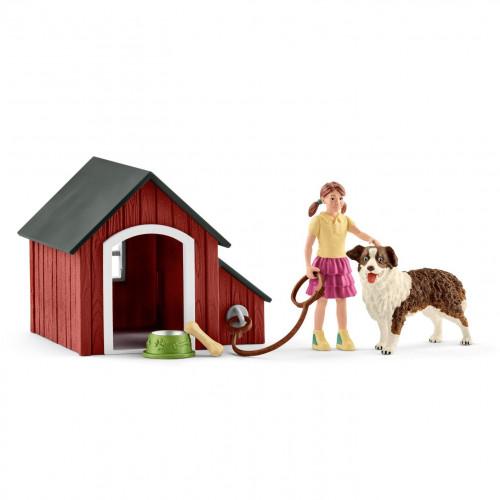 Set de figurine Schleich 42376, Cusca pentru caine