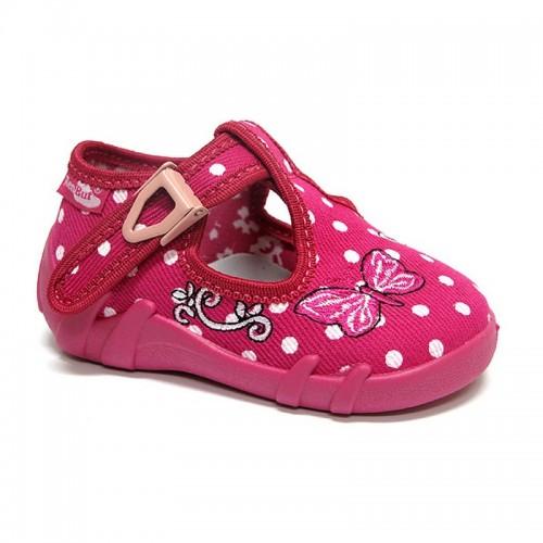 Incaltaminte fetite, din material textil, roz