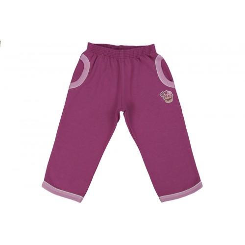 Pantaloni jogging LEO roșu ametist