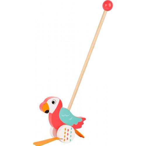 Jucarie de impins din lemn, Papagalul Lori