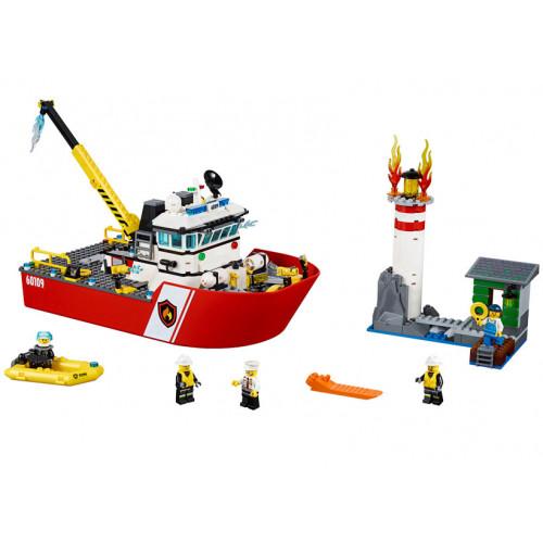 LEGO City, Salupa de stins incendii 60109