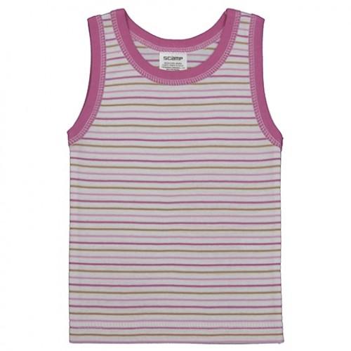 Maieu pentru fete, alb cu dungi roz