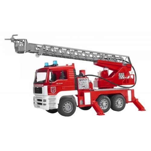 Masina de pompieri MAN Bruder 02771 cu scara si pompa de apa