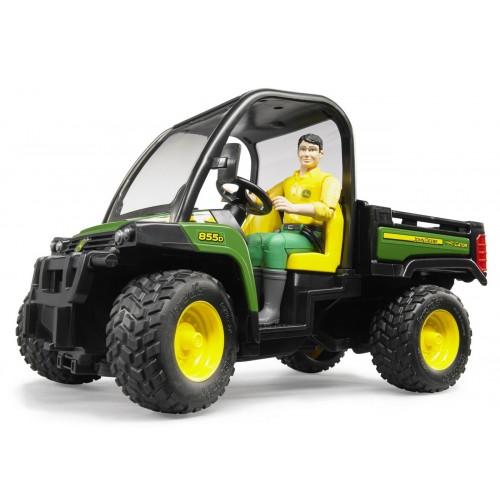 Masina de teren John Deere Gator XUV 855D cu sofer Bruder 02490