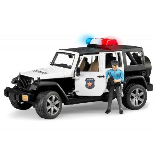 Masina de politie Jeep Wrangler Unlimited, Bruder 02526