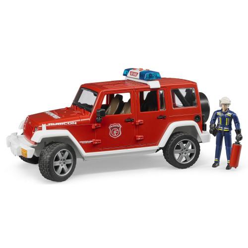 Masina de pompieri Jeep Wrangler Rubicon cu pompier, Bruder 02528