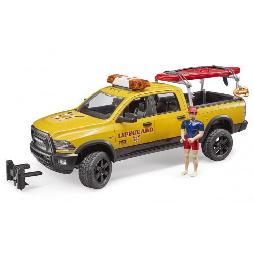 Masina de salvamari RAM 2500, cu figurina si accesorii, Bruder 02506